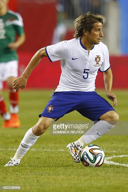 Portugal's Coentrao maneuvers the ball during a friendly soccer match between Mexico and Portugal at Gillette Stadium June 6 in Foxborough...