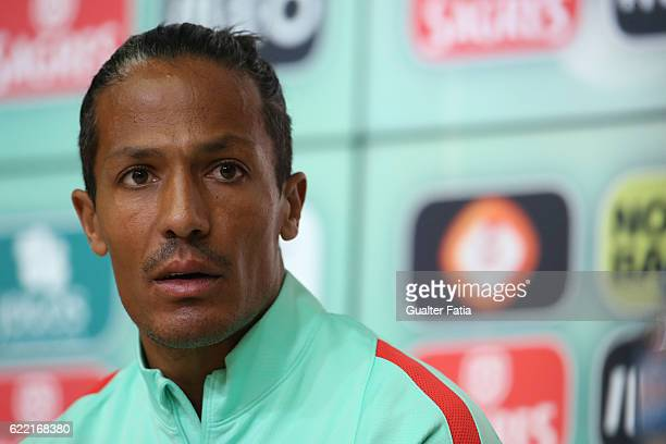 Portugal's defender Bruno Alves during Portugal's National Team Press Conference before the 2018 FIFA World Cup Qualifiers match against Latvia at...