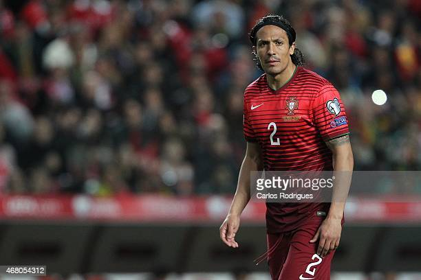 Portugal's defender Bruno Alves during the UEFA Euro 2016 Qualifier between Portugal and Serbia at Estadio da Luz on March 29 2015 in Lisbon Portugal