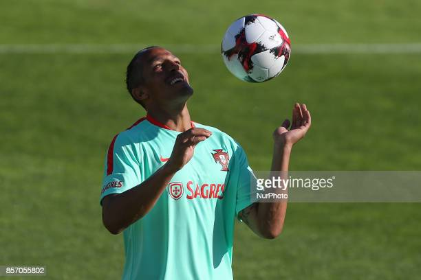 Portugal's defender Bruno Alves in action during National Team Training session before the match between Portugal and Andorra at City Football in...