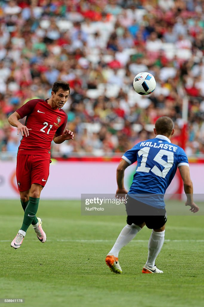Portugals defender Cedric in action during international friendly match between Portugal and Estonia in preparation for the Euro 2016 at Estadio da...