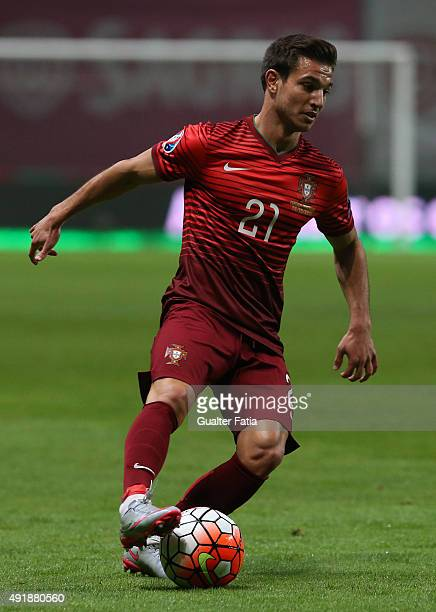 Portugal's defender Cedric in action during the UEFA EURO 2016 Qualifier match between Portugal and Denmark at Estadio Municipal de Braga on October...