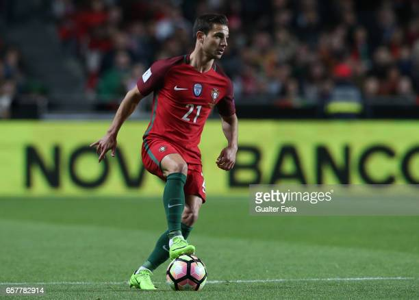 Portugal's defender Cedric Soares in action during the FIFA 2018 World Cup Qualifier match between Portugal and Hungary at Estadio da Luz on March 25...