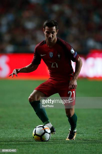 Portugal's defender Cedric Soares in action during the FIFA World Cup WC 2018 football qualifier match between Portugal and Switzerland in Lisbon on...