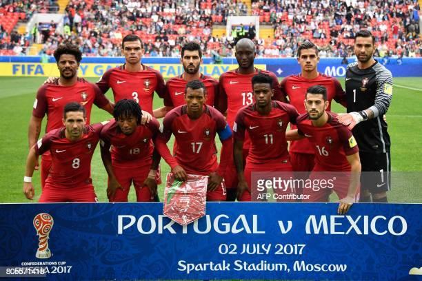Portugal's defender Eliseu Portugal's defender Pepe Portugal's defender Luis Neto Portugal's midfielder Danilo Portugal's forward Andre Silva...