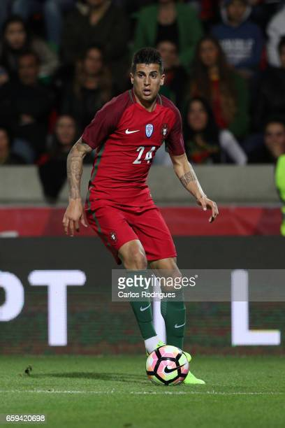 Portugal's defender Joao Cancelo during the match between Portugal v Sweden International Friendly at Estadio dos Barreiros on March 28 2017 in...