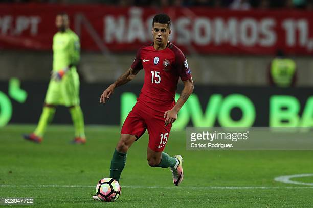 Portugal's defender Joao Cancelo from Portugal during the Portugal v Latvia FIFA 2018 World Cup Qualifier match at Estadio do Algarve on November 13...