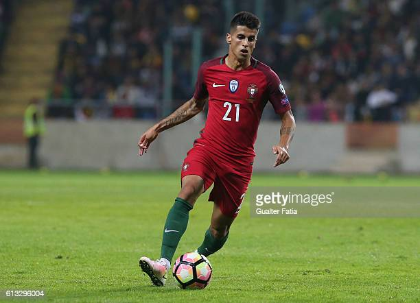 Portugal's defender Joao Cancelo in action during the FIFA 2018 World Cup Qualifier match between Portugal and Andorra at Estadio Municipal de Aveiro...