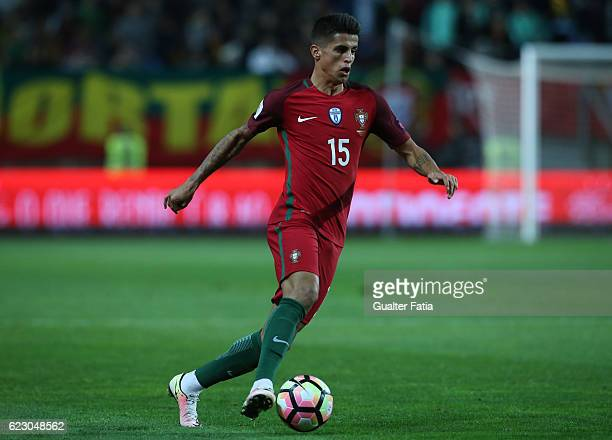 Portugal's defender Joao Cancelo in action during the FIFA 2018 World Cup Qualifier match between Portugal and Latvia at Estadio Algarve on November...