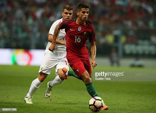 Portugal's defender Joao Cancelo in action during the International Friendly match between Portugal and Gibraltar at Estadio do Bessa on September 1...