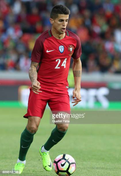 PortugalÕs defender Joao Cancelo in action during the International Friendly match between Portugal and Sweden at Estadio dos Barreiros on March 28...