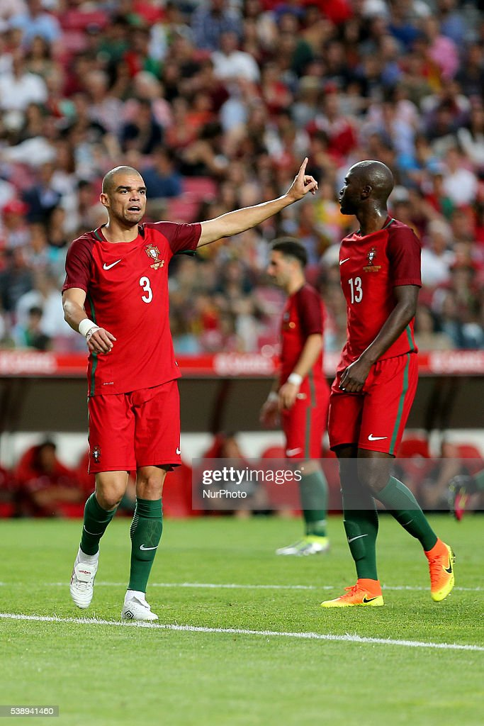 Portugals defender Pepe in action during international friendly match between Portugal and Estonia in preparation for the Euro 2016 at Estadio da Luz...