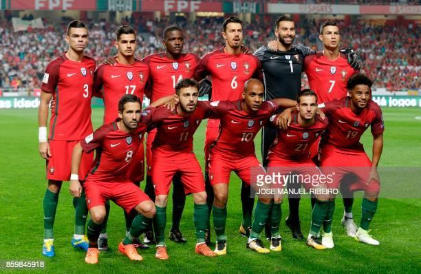 Portugal's defender Pepe Portugal's forward Nelson Oliveira Portugal's midfielder William Carvalho Portugal's defender Jose Fonte Portugal's...