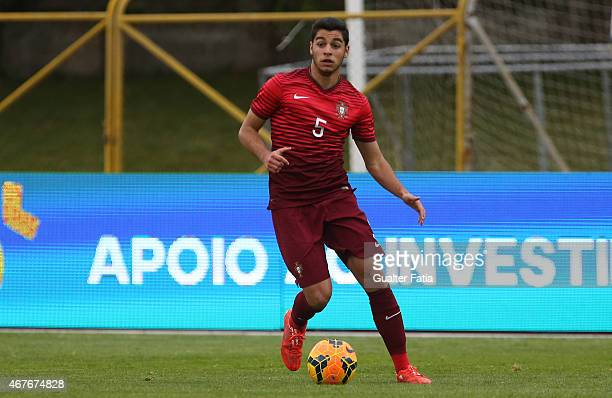Portugal's defender Rafa Soares in action during the U21 International Friendly between Portugal and Denmark on March 26 2015 in Marinha Grande...