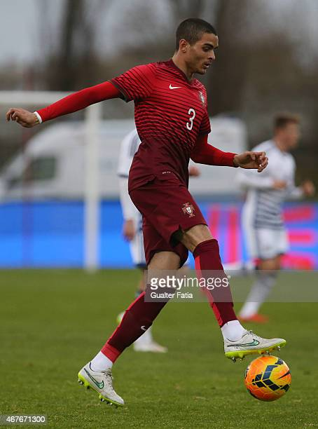 Portugal's defender Tiago Ilori in action during the U21 International Friendly between Portugal and Denmark on March 26 2015 in Marinha Grande...