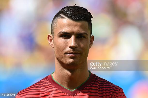 Cristiano Ronaldo Hairstyles cristiano ronaldo hairstyles of the world cup pictures cbs news Fbl Wc 2014 Match46 Por Gha Real Madrid Footballer Cristiano Ronaldo