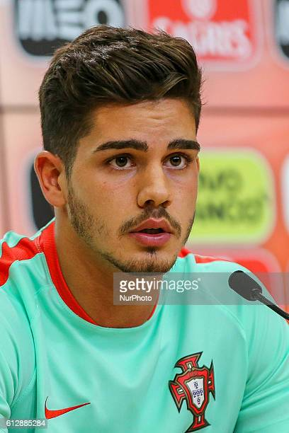 Portugal's forward Andre Silva during Portugal's National Team Press Conference before the 2018 FIFA World Cup Qualifiers matches against Andorra and...
