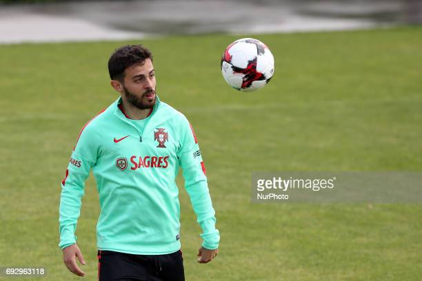 Portugal's forward Bernardo Silva in action during a training session at quotCidade do Futebolquot training camp in Oeiras outskirts of Lisbon on...