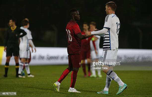 Portugal's forward Bruma with Denmark's defender Patrick Banggaard during the U21 International Friendly between Portugal and Denmark on March 26...