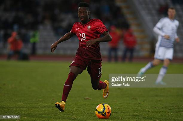 Portugal's forward Carlos Mane in action during the U21 International Friendly between Portugal and Denmark on March 26 2015 in Marinha Grande...
