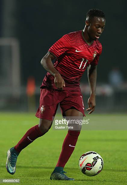 Portugal's forward Carlos Mane in action during the UEFA European Under 21 Qualifier match between Portugal U21 and Albania U21 at Estadio Municipal...
