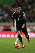 Portugal's forward Cristiano Ronaldo during the Friendly match between Portugal and France on September 04 2015 in Lisbon Portugal