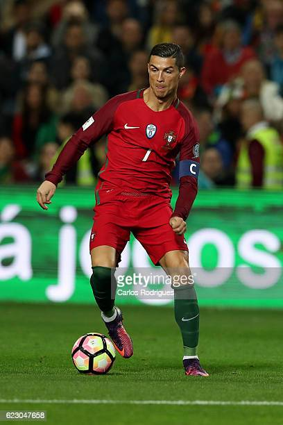 Portugal's forward Cristiano Ronaldo from Portugal during the Portugal v Latvia FIFA 2018 World Cup Qualifier match at Estadio do Algarve on November...