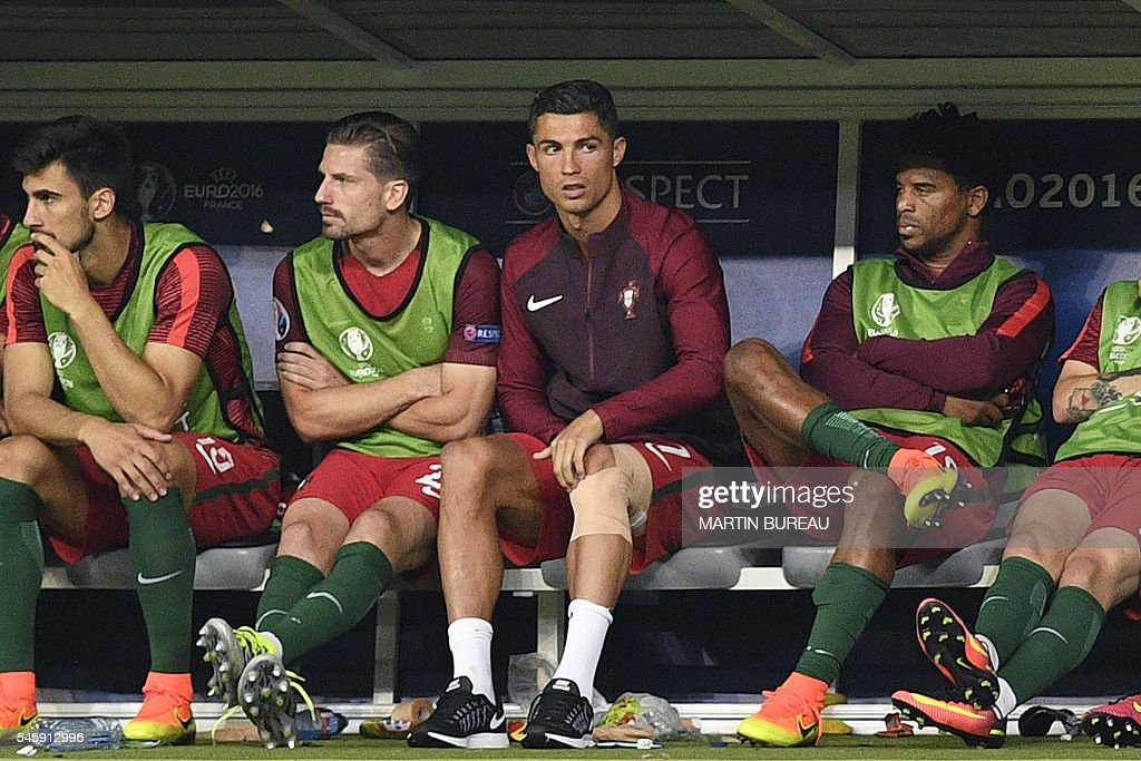 Cristiano Ronaldo starts crying as injury forces him off in Euro ...