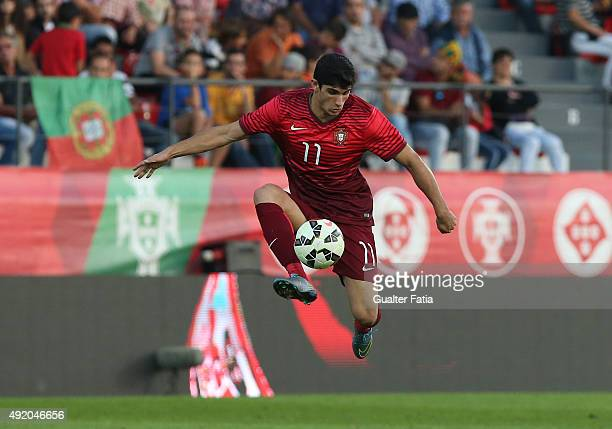 Portugal's forward Goncalo Guedes in action during the UEFA European Under 21 Championship Qualifier match between Portugal and Hungary at Estadio 25...