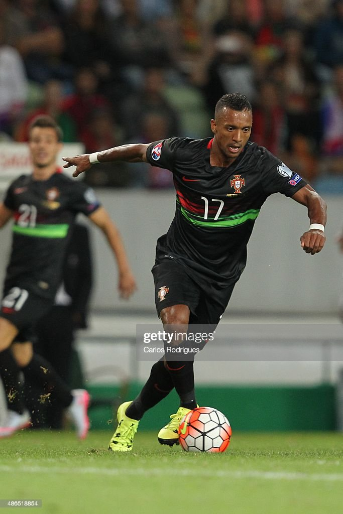 Portugal's forward <a gi-track='captionPersonalityLinkClicked' href=/galleries/search?phrase=Nani+-+Jugador+de+f%C3%BAtbol&family=editorial&specificpeople=11510994 ng-click='$event.stopPropagation()'>Nani</a> during the Friendly match between Portugal and France on September 04, 2015 in Lisbon, Portugal.