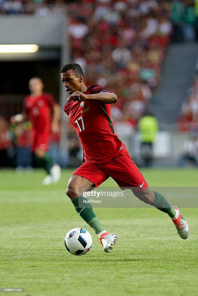 Portugals forward Nani in action during international friendly match between Portugal and Estonia in preparation for the Euro 2016 at Estadio da Luz...