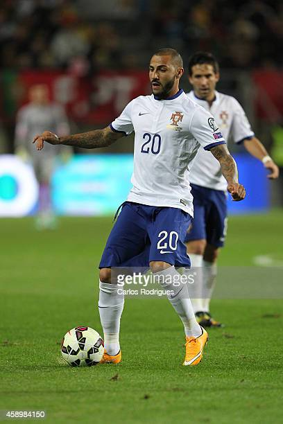 Portugal's forward Ricardo Quaresma during the EURO 2016 qualification match between Portugal and Armenia at the Estadio do Algarve on November 14...