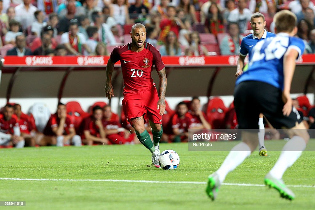 Portugals forward Ricardo Quaresma in action during international friendly match between Portugal and Estonia in preparation for the Euro 2016 at...