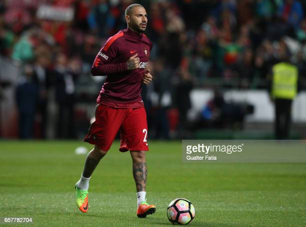 Portugal's forward Ricardo Quaresma in action during warm up before the start of the FIFA 2018 World Cup Qualifier match between Portugal and Hungary...