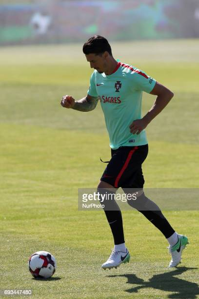 Portugal's forward Rui Fonte in action during a training session at quotCidade do Futebolquot training camp in Oeiras outskirts of Lisbon on June 7...