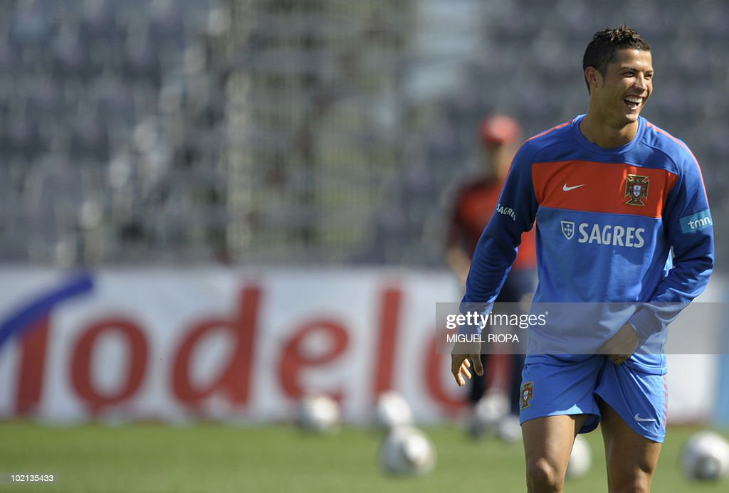 Portugal's forwards Cristiano Ronaldo takes part during their team´s second session training at Covilha Sports Complex in Covilha, central Portugal, on May 29, 2010. Portugal is holding training camp in preparation for the upcoming world cup 2010 starting on June 11 in South Africa.