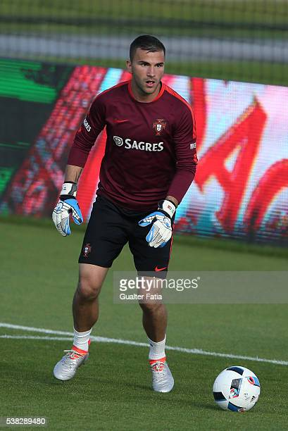 Portugal's goalkeeper Anthony Lopes in action during Portugal's National Training session in preparation for the Euro 2016 at FPF Cidade do Futebol...