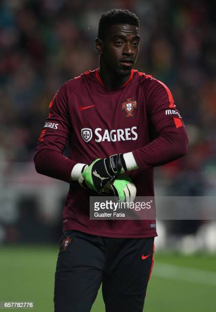 Portugal's goalkeeper Bruno Varela during warm up before the start of the FIFA 2018 World Cup Qualifier match between Portugal and Hungary at Estadio...