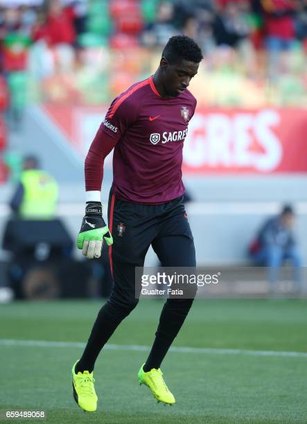 PortugalÕs goalkeeper Bruno Varela during warm up before the start of the International Friendly match between Portugal and Sweden at Estadio dos...