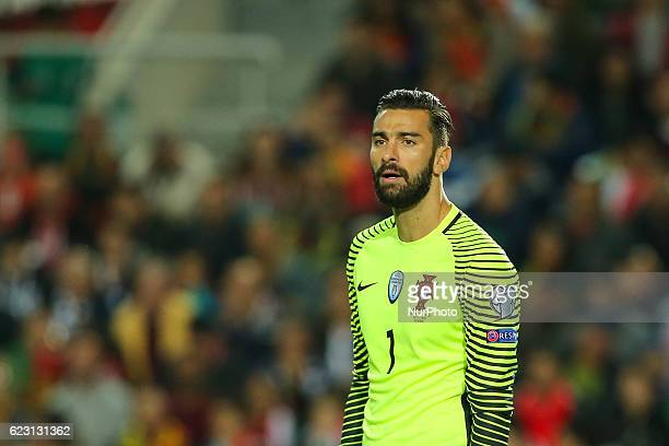 Portugals goalkeeper Rui Patricio during the 2018 FIFA World Cup Qualifiers matches between Portugal and Latvia in Municipal Algarve Stadium on...