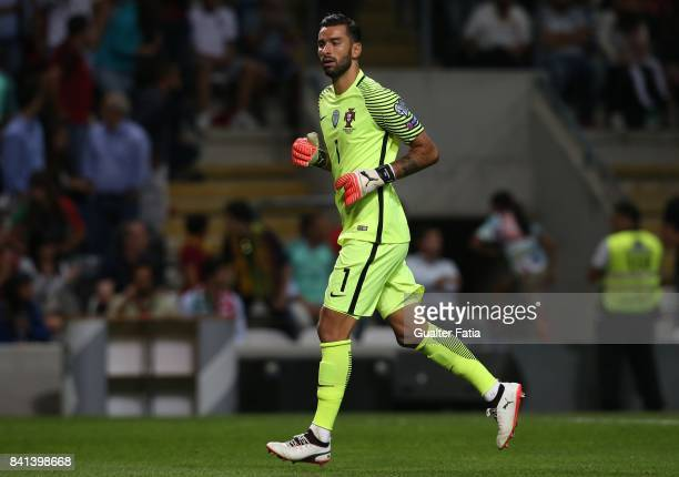 Portugal's goalkeeper Rui Patricio in action during the FIFA 2018 World Cup Qualifier match between Portugal and Faroe Islands at Estadio do Bessa on...