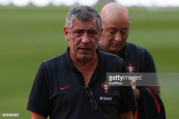 Portugals head coach Fernando Santos during National Team Training session before the match between Portugal and Switzerland at Luz Stadium in Lisbon...