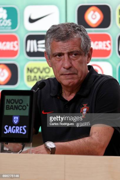 Portugal's head coach Fernando Santos from Portugal during Portugal Training Session and Press Conference for the Confederations Cup 2017 at Cidade...