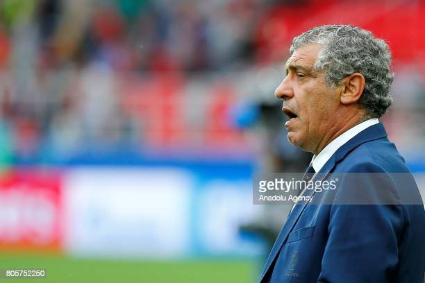 Portugal's head coach Fernando Santos is seen during the FIFA Confederations Cup 2017 PlayOff for Third Place between Portugal and Mexico at Spartak...