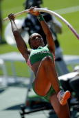 Portugal's Maria Eleonor Tavares competes during the women's pole vault qualifications at the 2010 European Athletics Championships at the Olympic...