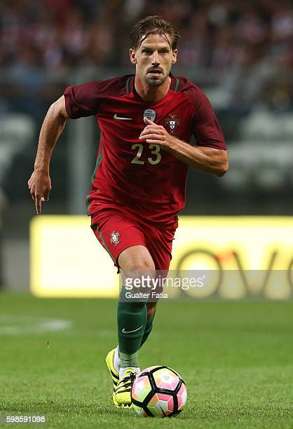 Portugal's midfielder Adrien Silva in action during the International Friendly match between Portugal and Gibraltar at Estadio do Bessa on September...