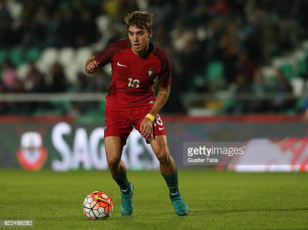 Portugal's midfielder Andre Horta in action during U21 Friendly match between Portugal and Czech Republic at Estadio do Bonfim on November 11 2016 in...