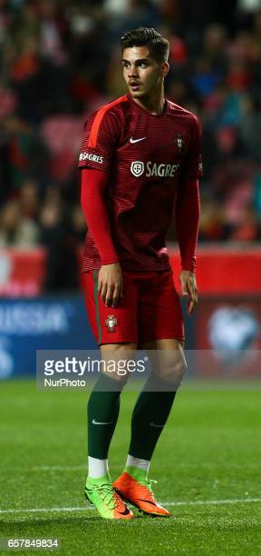 Portugal's midfielder Andre Silva looks on during the football match between Portugal and Hungary at Luz Stadium in Lisbon on March 25 2017