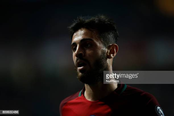 Portugal's midfielder Bernardo Silva during the FIFA World Cup WC 2018 football qualifier match between Portugal and Switzerland in Lisbon on October...