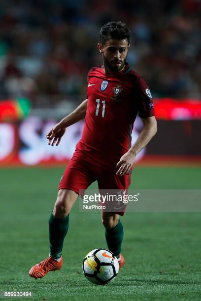 Portugal's midfielder Bernardo Silva in action during the FIFA World Cup WC 2018 football qualifier match between Portugal and Switzerland in Lisbon...